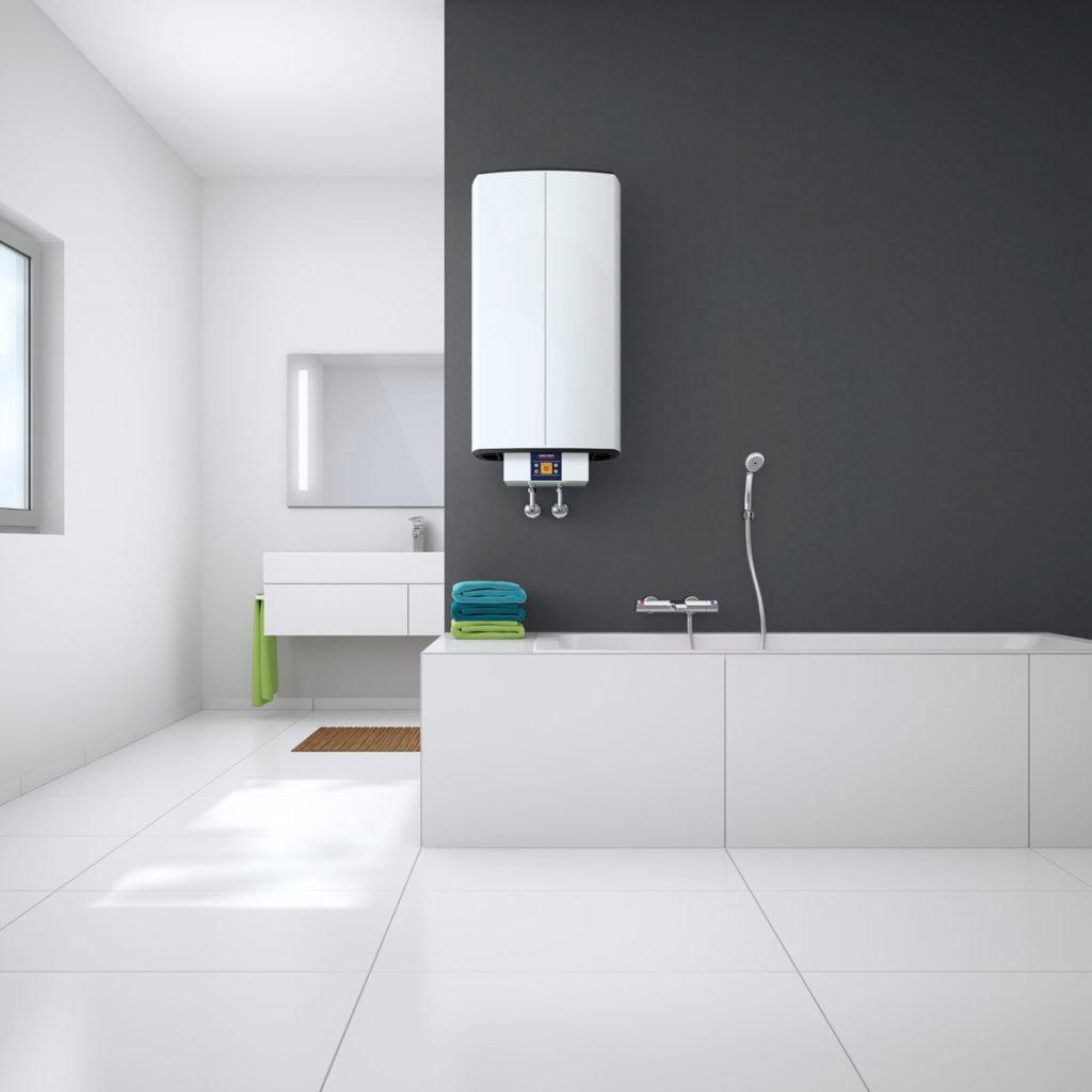 Электрический водонагреватель на стене фото