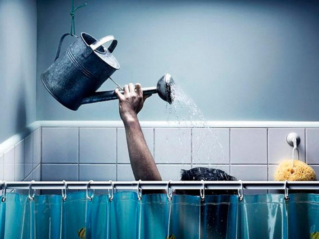 Отключение горячей воды и водонагреватель фото