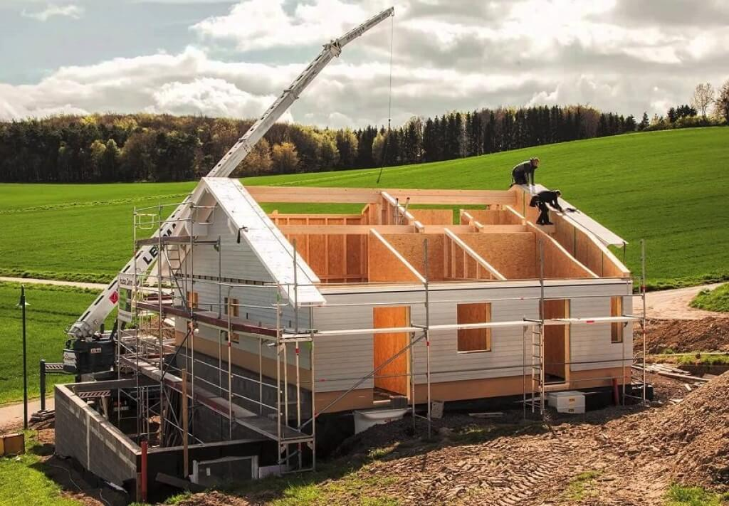Строительство здания фото